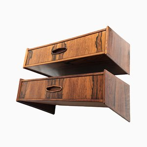 Danish Rosewood Nightstands, 1960s, Set of 2