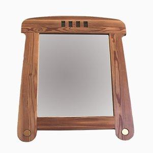 Vintage Wooden Mirror with Golden Accessories