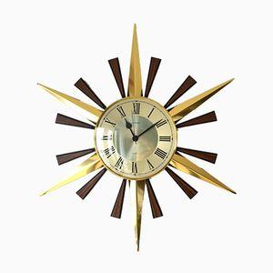 Horloge Murale Sunburst Mid-Century de Metamec
