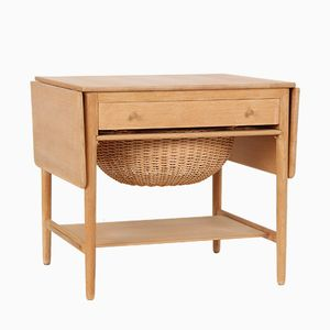Vintage AT33 Oak Sewing Table by Hans J. Wegner for Andreas Tuck