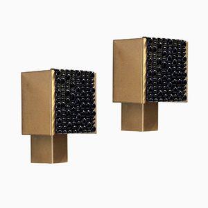 Scandinavian Mid-Century Wall Sconces in Brass, 1970s, Set of 2