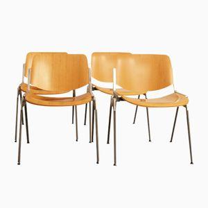 DSC106 Esszimmerstühle von Giancarlo Piretti für Castelli, 1970er, 4er Set