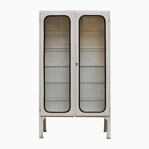 Vintage Medical Cabinet in Iron & Glass, 1970s