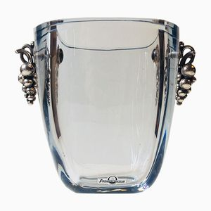 Vintage Ice Bucket by C. C. Hermann for Strömbergshyttan, 1960s