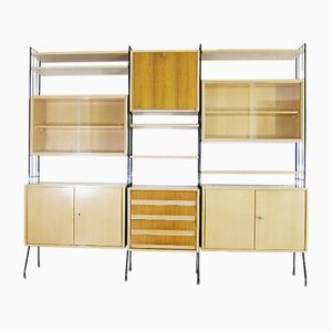 Mid-Century Walnut Veneer Shelving Unit from Koch Möbel