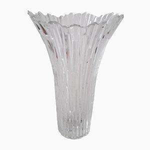 Vase Revontulet Vintage en Verre Givré par Tauno Wirkkala pour Humppila