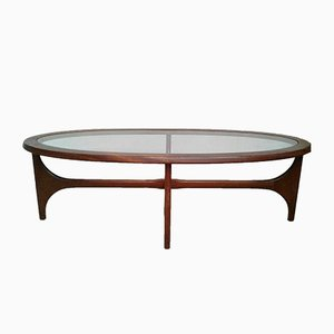 Vintage Teak Oval Coffee Table by Stateroom for Stonehill, 1960s