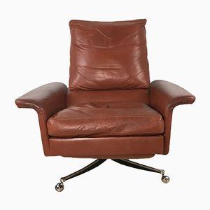 Mid-Century Swivel Leather Armchair, 1970s