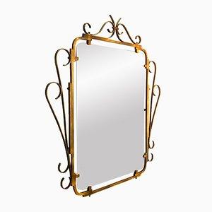 Miroir Vintage avec Cadre Décoratif en Laiton