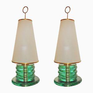 Vintage Tischlampen von Fontana Arte, 1960er, 2er Set