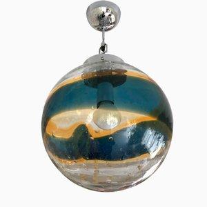 Vintage Italian Murano Glass Globe Ceiling Lamp by Paolo Venini, 1960s