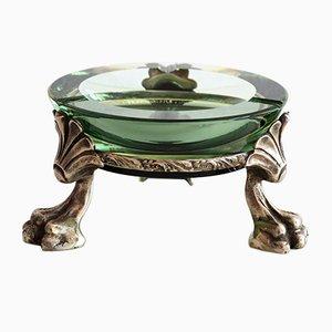 Cendrier en Cristal de Murano avec Support en Forme de Griffes de Lion, 1960s