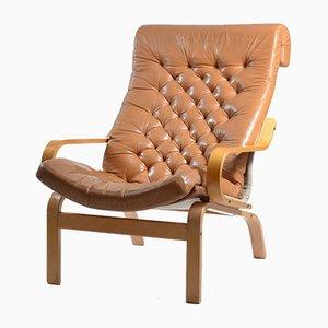 Bore Armlehnstühle in Leder und Leinen von Noboru Nakamura für Ikea, 1970er