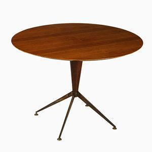 Vintage Italian Teak Veneer Table, 1950s