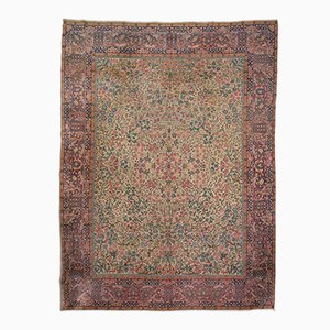 Antique Persian Rug with Floral Decoration, 1900s