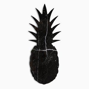 Schwarzer Marmor Ananas Briefbeschwerer von FiammettaV Home Collection