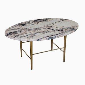 Tavolino da caffè Stud in marmo Vulcanatta e ottone di Lind + Almond per Novocastrian
