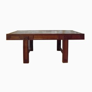 Vintage Tiled Oak Coffee Table by Juliette Belarti for Belarti
