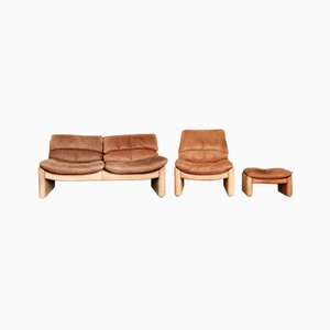 Vintage Leather Living Room Set from Walter Knoll, 1970s