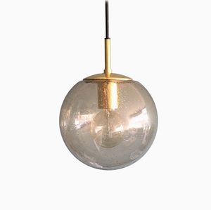 Brass Globe Pendant from Limburg, 1970s