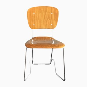 Swiss Aluflex Folding Chair by Armin Wirth for Ph. Zieringer KG, 1950s