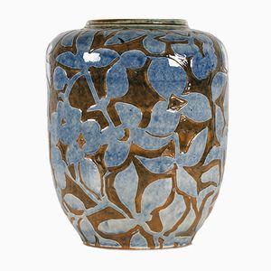 Large Ceramic Floor Vase by Aksel Sigvald Nielsen for Knabstrup, 1950s
