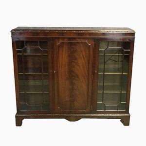 Vintage Art Deco Mahogany Display Cabinet