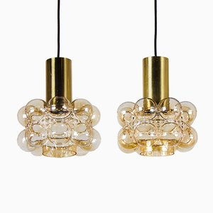 Bubble Glass Ceiling Lights by Helena Tynell and Heinrich Gantenbrink for Limburg, 1960s, Set of 2