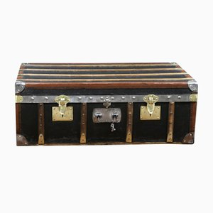 Antique Black Trunk by Moynat