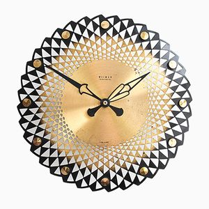 Brass Wall Clock from Weimar, 1960s