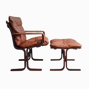 Chair & Ottoman by Ingmar Relling for Westnofa, 1960s