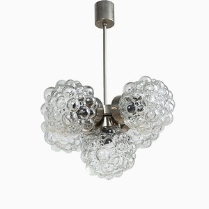Bubble Glass Chandelier by Helena Tynell, 1970s