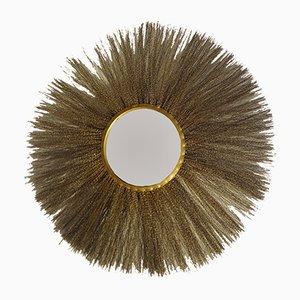 Vergoldeter italienischer Messing Spiegel, 1960er