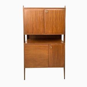 Italian Beech, Mahogany & Maple Cabinet, 1950s