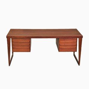 Modell 70 Teak Schreibtisch von Kai Kristiansen für Feldballes Møbelfabrik, 1960er