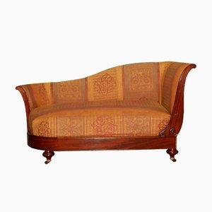 Chaise Lounge antigua de caoba de Dubois à Paris