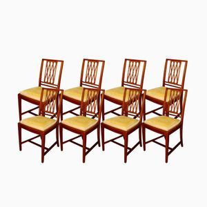 Antique Mahogany Chairs, Set of 8