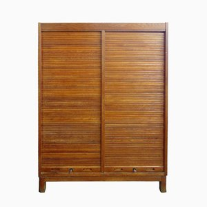 Teak Cabinet with Jalousie Doors, 1960s