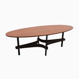 Mid-Century Italian Oval Coffee Table from Poltronova