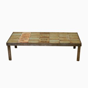 Vintage Ceramics Coffee Table by Roger Capron for Vallauris