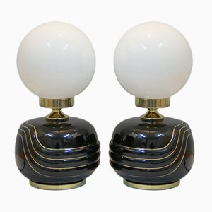 Hollywood Regency Lamps, 1970s, Set of 2