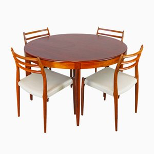 Model 78 Rosewood Dining Set by N.O. Møller for J.L. Møllers, 1950s