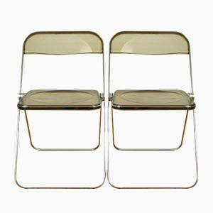 Vintage Plia Folding Chairs by Giancarlo Piretti for Castelli, Set of 2