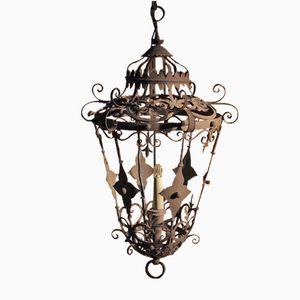 19th Century Spanish Wrought-Iron Lantern