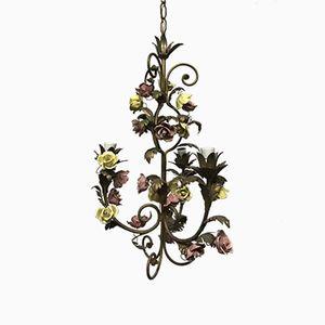 Mid-Century Italian Capodimonte Flower Chandelier