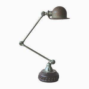 2-Arm Green Lamp by Jean- Louis Domecq for Jieldé, 1950s