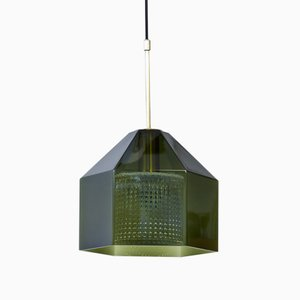 Hexagon-Shaped Pendant Lamp by Carl Fagerlund for Orrefors, 1960s