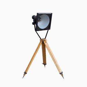 Black-Enamel Spotlight Tripod Floor Lamp, 1960s