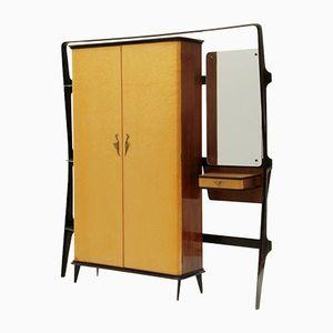 Kleiderbügel Schrank mit Konsole von Consorzio Esposizione Mobili Cantù, 1950er