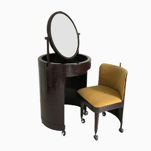 Toeletta vintage con sedia, Italia, anni '70
